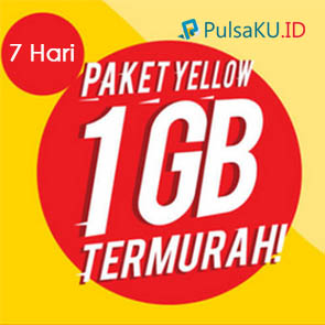 Paket Internet Indosat - Yellow 1GB 7HR