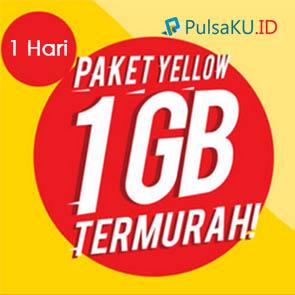 Paket Internet Indosat - Yellow 1GB, 1Hari
