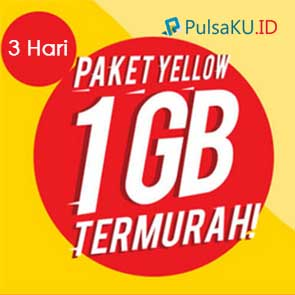 Paket Internet Indosat - Yellow 1GB, 3Hari
