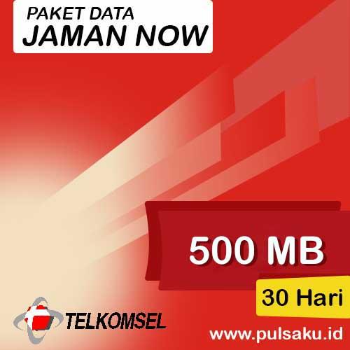 Paket Internet Telkomsel - Jaman Now 500MB