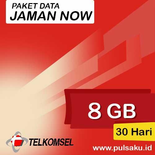 Paket Internet Telkomsel - Jaman Now 8GB