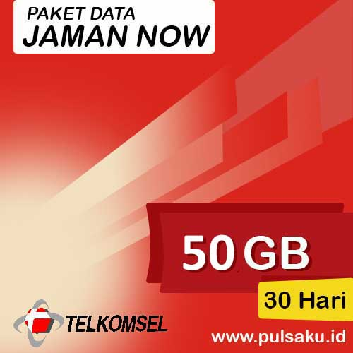 Paket Internet Telkomsel - Jaman Now 50GB
