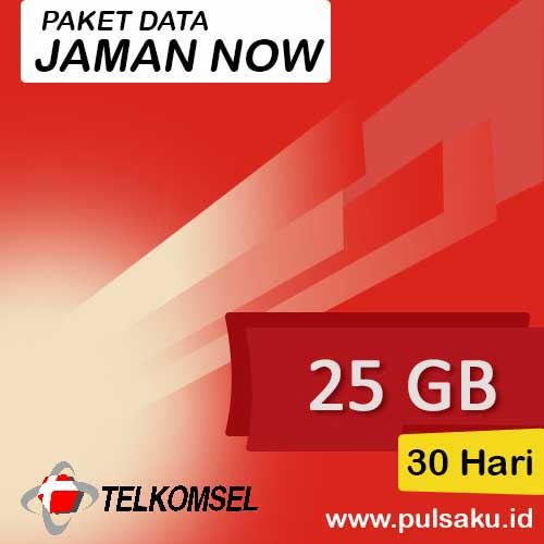Paket Internet Telkomsel - Jaman Now 25GB