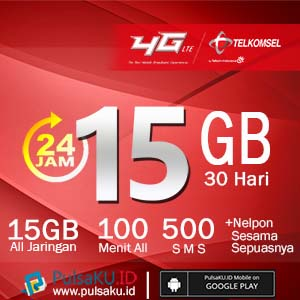 Paket Internet Telkomsel - Paket Data Combo 15GB