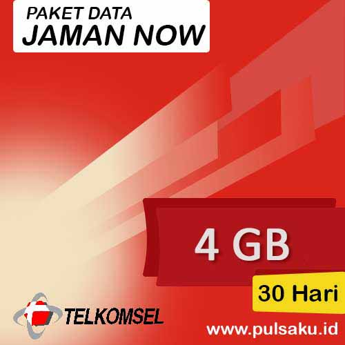 Paket Internet Telkomsel - Jaman Now 4GB