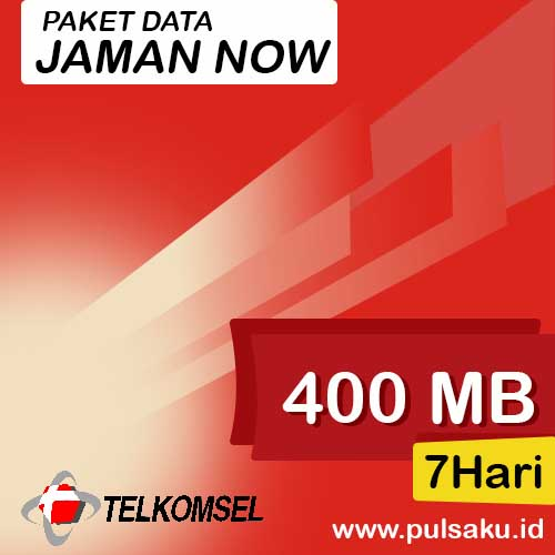 Paket Internet Telkomsel - Paket Jaman Now 400MB