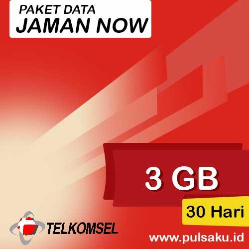 Paket Internet Telkomsel - Jaman Now 3GB