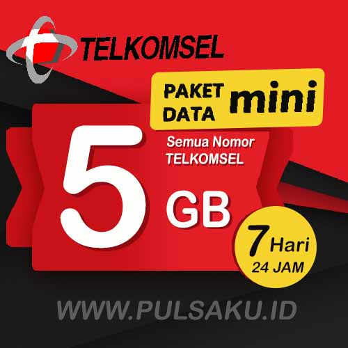 Paket Internet Telkomsel - Paket Data Mini 5GB WEEK