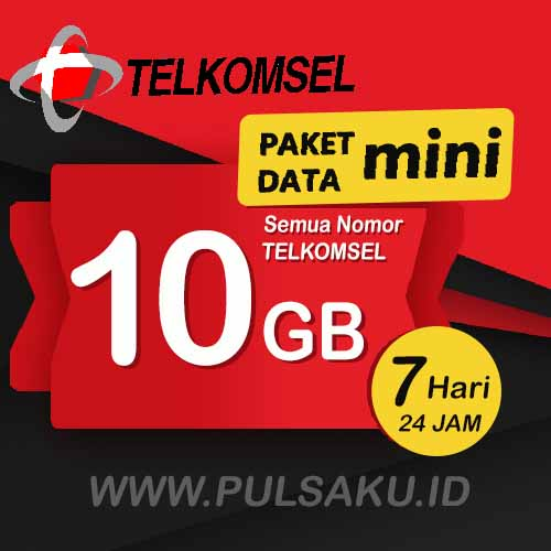 Paket Internet Telkomsel - Paket Data Mini 10GB WEEK