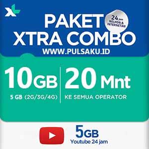 Paket Internet XL - XL Combo Extra 10GB