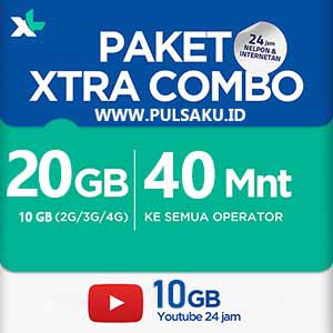 Paket Internet XL - XL Combo Extra 20GB
