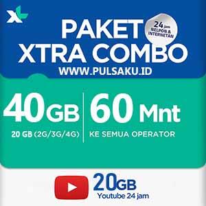 Paket Internet XL - XL Combo Extra 40GB