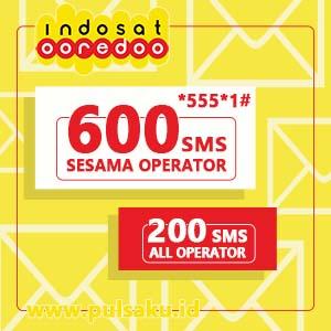 Paket SMS INDOSAT - SMS 600 SESAMA & 200 KE SEMUA
