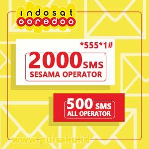 Paket SMS INDOSAT - SMS 2000 SESAMA & 500 KE SEMUA