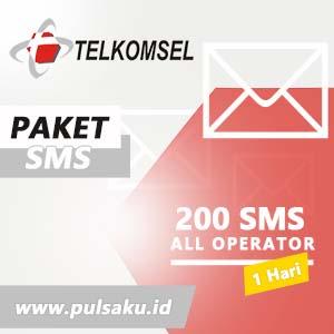 Paket SMS TELKOMSEL - All Operator 200 SMS 1 Hari