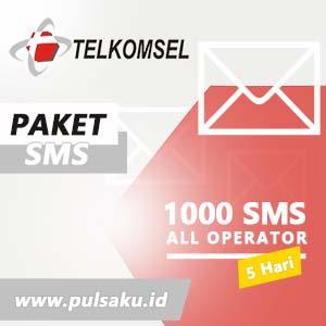 Paket SMS TELKOMSEL - All Operator 1000 SMS 5 Hari