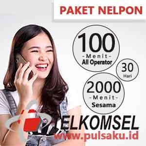 Paket Telpon Telkomsel - 2000 Menit + 100 Menit All Opr 30 Hari