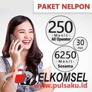 Paket Telpon Telkomsel - 6250 Menit + 250 Menit All Opr 30 Hari