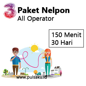 Paket Telpon Three - All Op 150mnt 30Hr