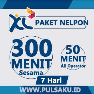 Paket Telpon XL - 300 Menit Sesama +50Mnt ALL + 7hari