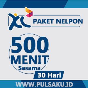 Paket Telpon XL - 500Mnt Sesama + 30hari