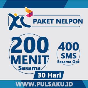 Paket Telpon XL - 200Mnt Sesama+400SMS Sesama + 30hari