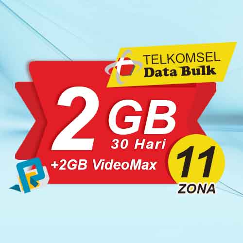 Telkomsel Bulk TSel Zona 11 Area 2 - 2GB All+2GB VideoMax 30 Hari