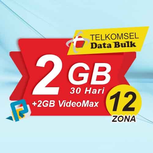 Telkomsel Bulk Tsel Zona 12 area 2 - 2GB All+2GB VideoMax 30 Hari