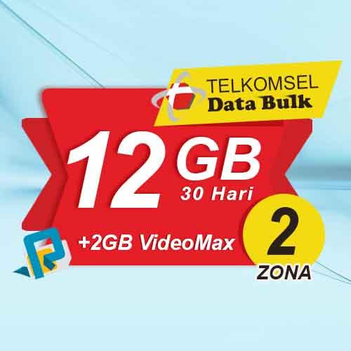 Telkomsel Bulk TSel Zona 2 - 12GB All+2GB VideoMax 30 Hari