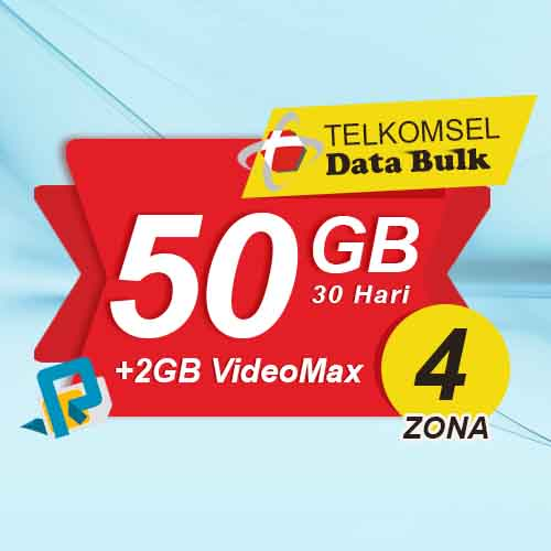 Telkomsel Bulk TSel Zona 4 - 50GB All+2GB VideoMax 30 Hari