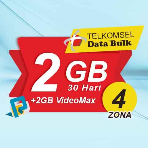 Telkomsel Bulk TSel Zona 4 - 2GB All+2GB VideoMax 30 Hari