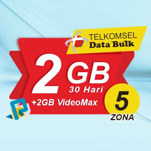 Telkomsel Bulk TSel Zona 5 - 2GB All+2GB VideoMax 30 Hari