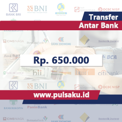 Transfer Dana ANTAR BANK - Transfer 650.000