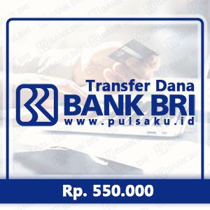 Transfer Dana KE BANK BRI - Transfer Bank BRI 550rb