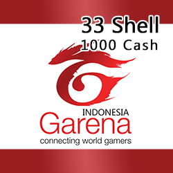 Voucher Game GAME GARENA INDONESIA - 33 Shell / 1000 Cash
