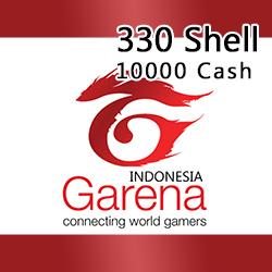 Voucher Game GAME GARENA INDONESIA - 330 Shell / 10000 Cash