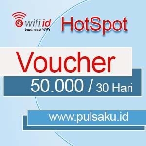 Voucher Hotspot WIFI.ID - 50.000